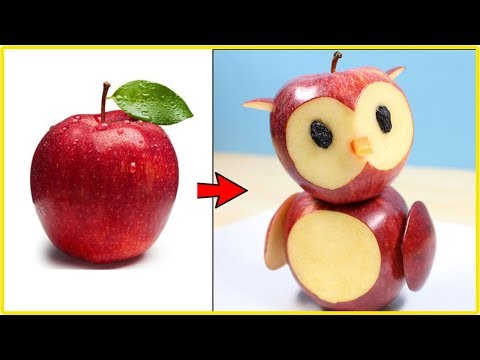 3 Simple Fruit Carving Ideas For Kids | Fruit Carving Apple Step By Step