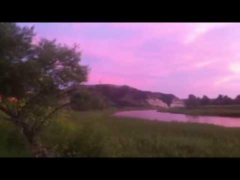 Cottonwood Campground, Theodore Roosevelt National Park, Sunset