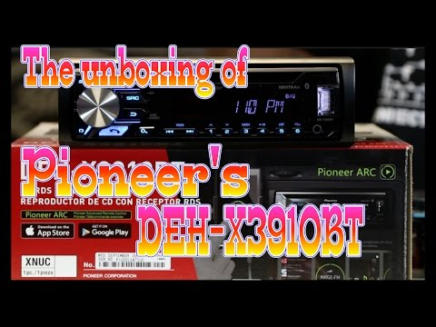 The unboxing of Pioneer's Limited Distribution DEH X3910BT