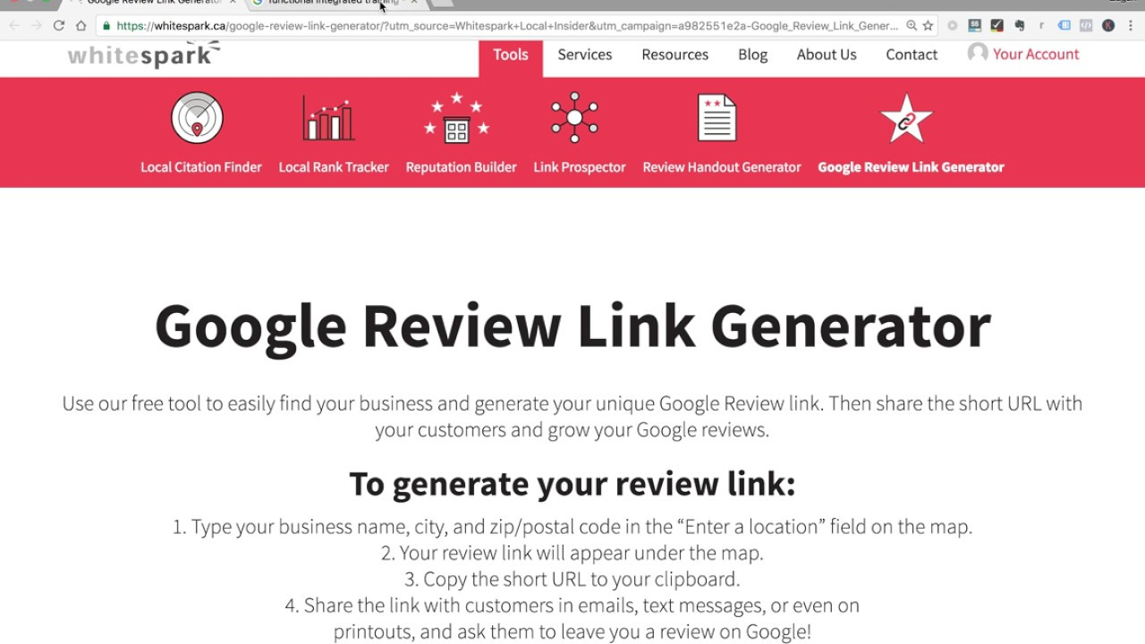 Create links for Google My Business customer reviews - YouTube