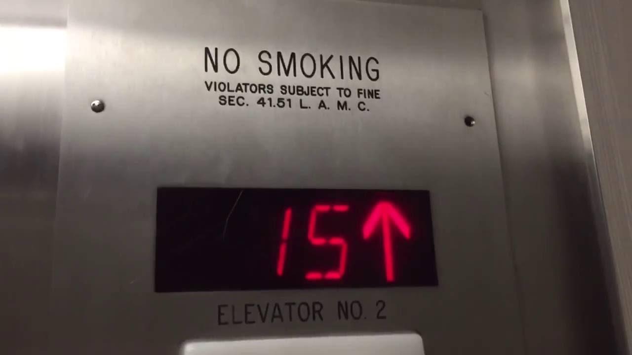 Vintage OTIS Traction Elevators 6380 Wilshire Blvd Los Angeles CA