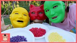 알록달록 젤리빈 먹고 꾸러기 유니 얼굴이 변했다 ? 콩순이 뽀로로 로보카 폴리 상어 색깔놀이 상황극 learn colors for kids | 말이야와아이들 MariAndKids