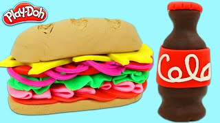 How to Make a Delicious Play Doh Sandwich and Cola | Fun & Easy DIY Play Dough Art!