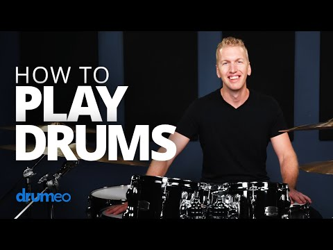 How To Play Drums (Beginner Drum Lesson)