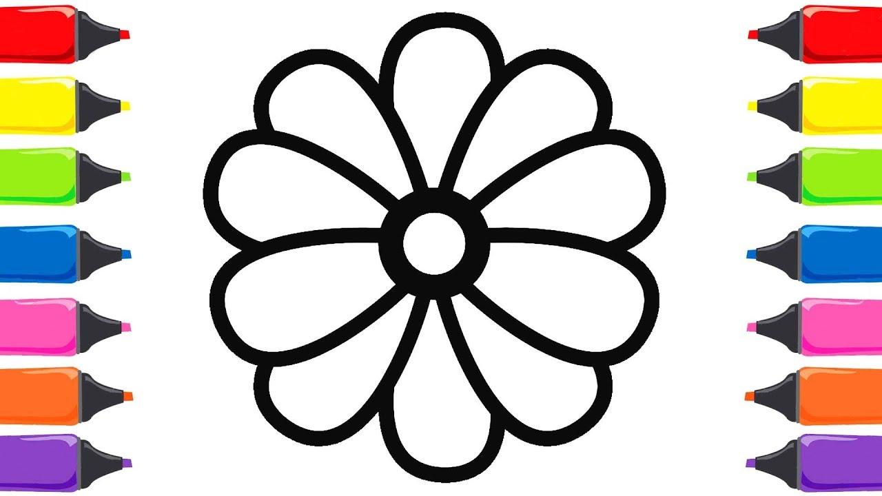 Renkleri öğreniyorum çiçek Boyama Ve Boyama Kitabı Youtube