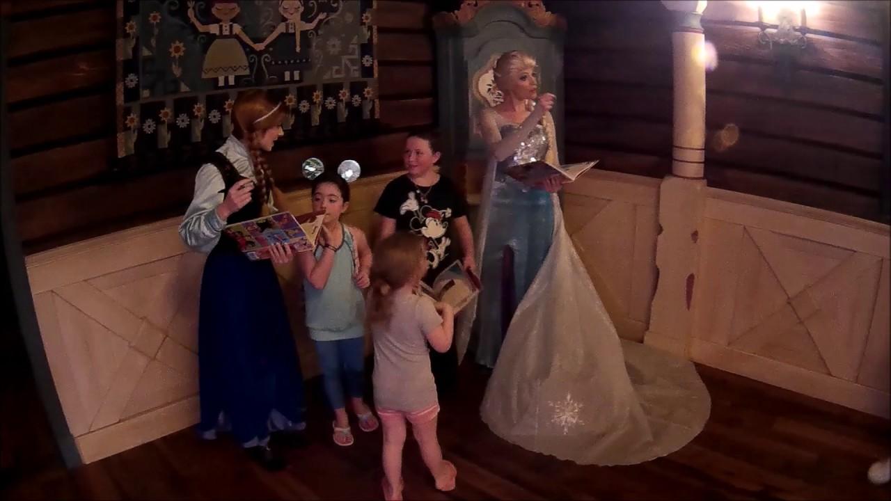 Kiley Family Disney Vacation Thursday Anna And Elsa Meet And