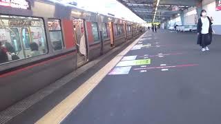 JR大阪環状線時間調整信号で停止、特急ゆっくり通過