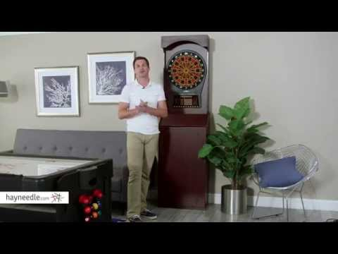 Arachnid Cricketpro 800 Tournament Soft Tip Free Standing Arcade Dart Board - Product Review Video