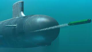 🔥 Пуск ракеты «Гарпун», попадание точно в цель / АПЛ США тип «Лос-Анджелес»