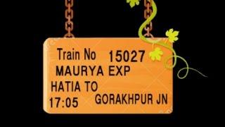 Train No 15027  Train Name MAURYA EXP HATIA RANCHI GAUTAMDHARA MURI JHALIDA KOTSHILA
