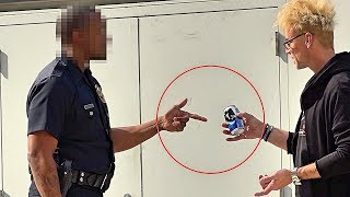 DRINKING IN PUBLIC - Escaping a COP PRANK!!!