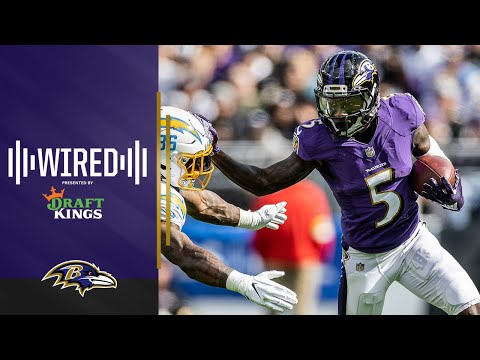 Wired: Hollywood Brown Mic'd Up For Dominant Win vs. Chargers | Ravens Wired