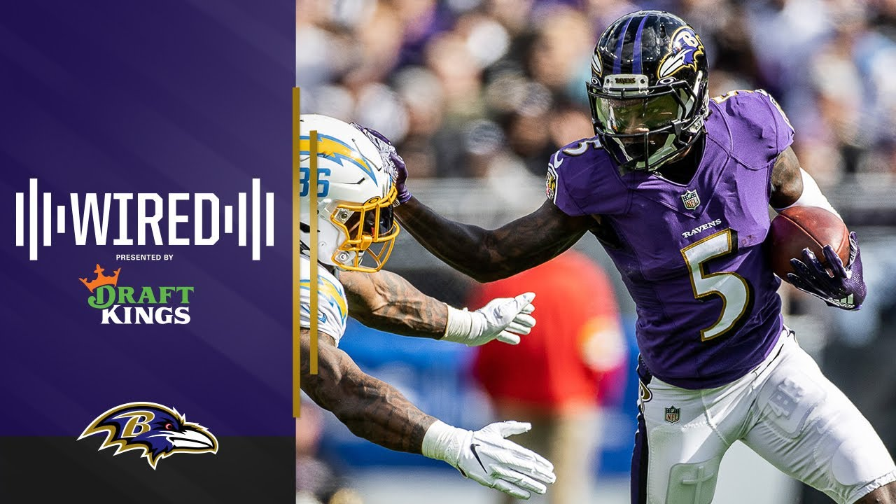 Wired: Hollywood Brown Mic'd Up For Dominant Win vs. Chargers | Ravens Wired - Baltimore Ravens