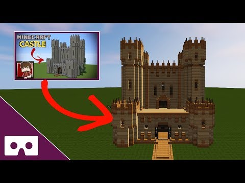 Building Grian's Minecraft Castle VR 360°