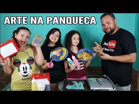 ARTE NA PANQUECA - PANCAKE ART CHALLENGE - #3 (ACERTE O DESENHO)