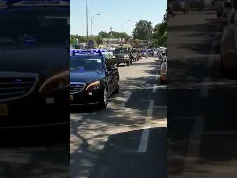 VP Constantino Chiwenga Motorcade In Bulawayo