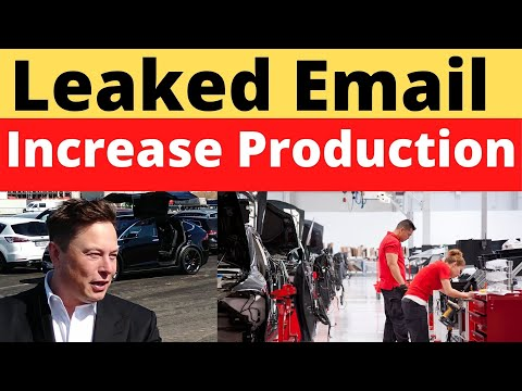 Leaked Email from Elon Musk Shows Urges Employees To Scale Up Production