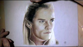 Legolas - Drawing time-lapse Portrait (Hobbit)
