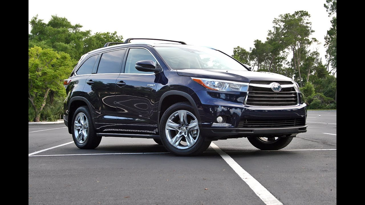 2015 toyota highlander hybrid driven youtube. Black Bedroom Furniture Sets. Home Design Ideas