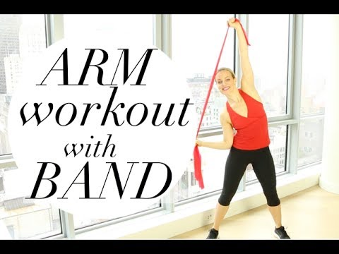 arm workout with resistance band  tracy campoli  arm