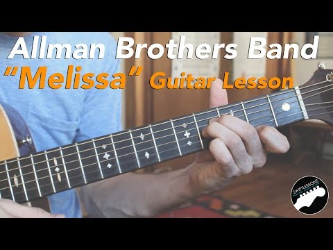 "Allman Brothers ""Melissa"" - Easy Acoustic Songs Guitar Lesson"