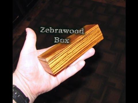 My Zebra Wood Glasses Box