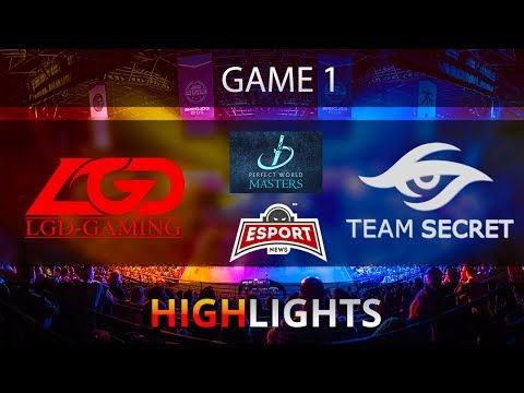 Dota 2: LGD vs Secret | Perfect World Minor| Game 1 | Highlights | 19.11.2017