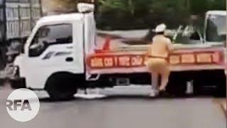Cận cảnh vụ CSGT ở Kông Chro, Gia Lai bị xe 12 chỗ tông trúng