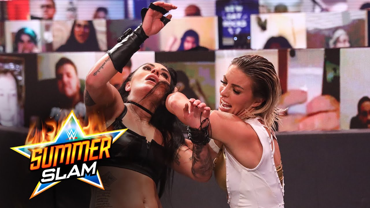 Mandy Rose and Sonya Deville viciously brawl near ringside: SummerSlam 2020 (WWE Network Exclusive)