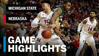 Highlights: Michigan State at Nebraska | Big Ten Basketball