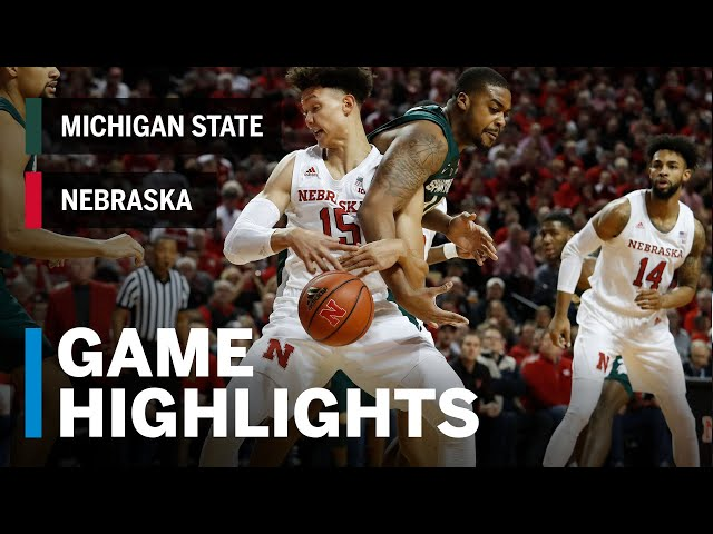 Highlights: Michigan State at Nebraska | Big Ten Basketball