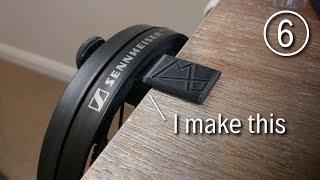 Custom 3D Printed Headphone Holder using Fusion 360