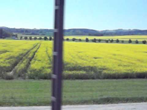 Scenic Train Journey between Olomouc and Prague, May 2011