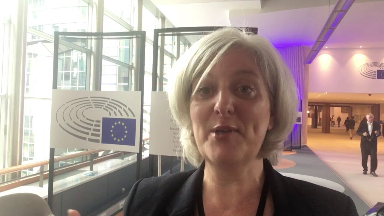 Caroline Voaden on her first day in the European Parliament