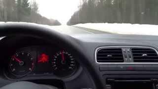Volkswagen Polo Sedan / проверка шумоизоляции скорость 90-100км/ч(, 2015-02-17T19:02:43.000Z)