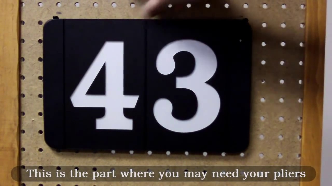Installation of Super Bright LED Modular Address Numbers YouTube
