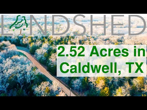 2.53 Acres For Sale In Caldwell, Texas