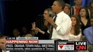 Florida Student Asks Obama about Israel