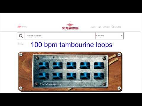 100 bpm tambourine