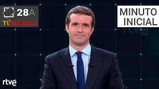 Minuto inicial de Pablo Casado   Debate en RTVE