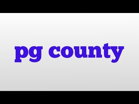 pg county meaning and pronunciation