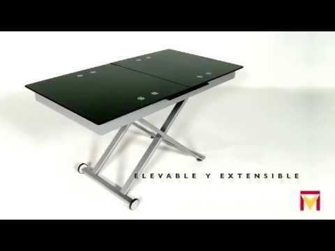 Mesa de centro elevable y extensible modelo xert moblerone for Mesa de centro elevable y extensible