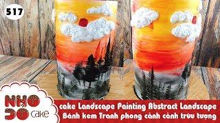 cake Landscape Painting Abstract Landscape  - Bánh kem Tranh phong cảnh cảnh trừu tượng (517)