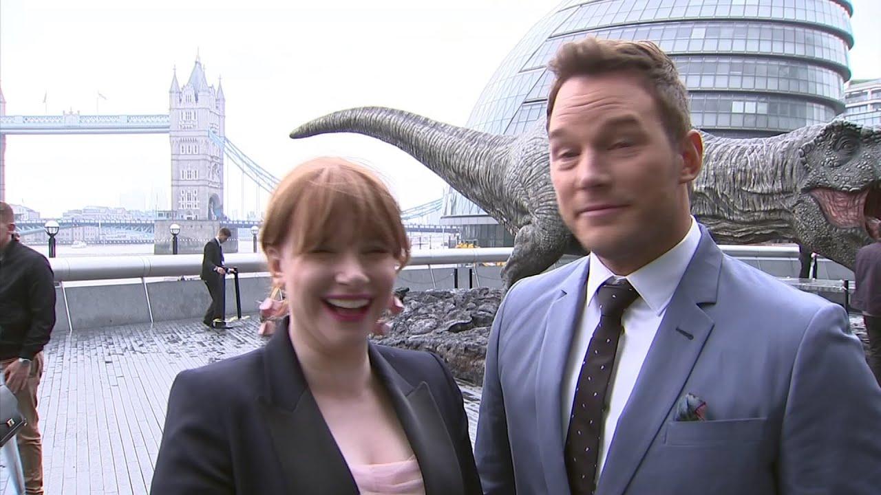 'Jurassic World' stars celebrate box office competition
