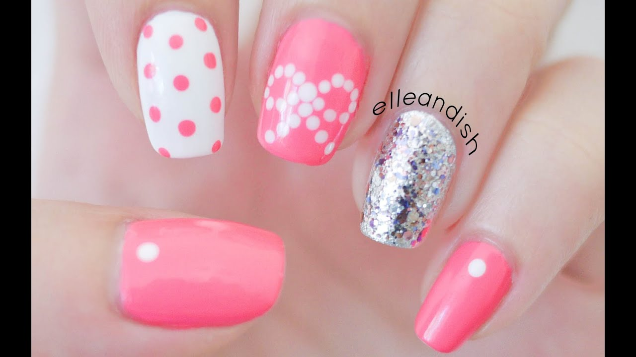 Easy Bow Nailsing Dots Youtube inside Elegant easy nail designs bows for your inspiration