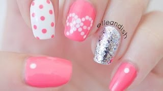 ❤ Easy Bow Nails...Using Dots!  ❤