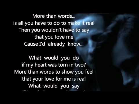 Extreme  More Than Words  HQ Scroll Lyrics 22