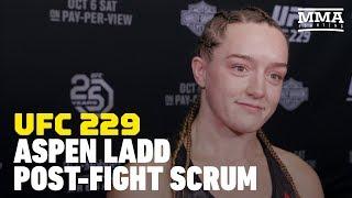 UFC 229: Aspen Ladd Explains 'Primal' Screams Let Loose in Tonya Evinger Win - MMA Fighting