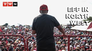 Party leader Julius Malema led the Economic Freedom Fighters campaign rally in the North West on 8 October 2021 ahead of the 2021 local government elections.   #LGE2021 #EFF #Malema