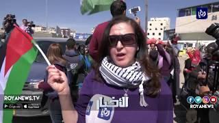 الاحتلال يقمع مسيرة لنساء فلسطين - (7-3-2018)